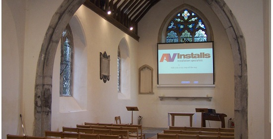 Audio Visual Church Projector Installation