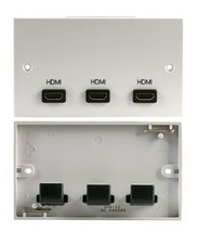 double gang X3 HDMI Wall Plate