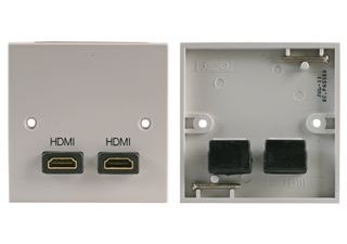 double HDMI Wall Plate