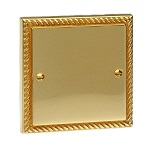 georgian brass hdmi plate