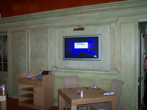 Flat Screen Display In Restaurant