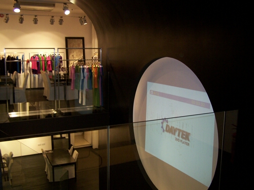 Projector Installation in Designer Clothes Shop