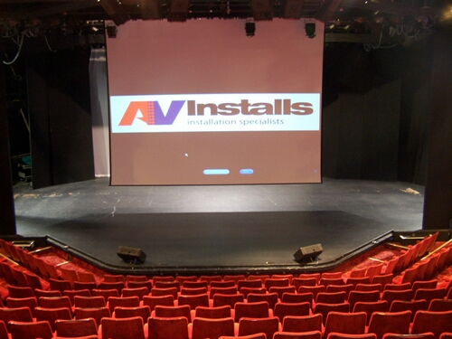 7 Metre Wide Projection Screen Installation in Theatre