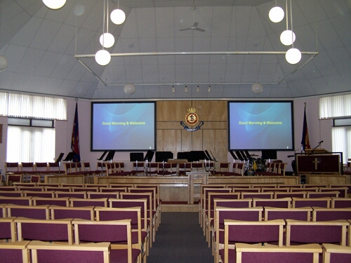 Fixed Frame Screen Multiple Projection System