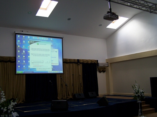3M Wide Screen and Projector for Gospel Church