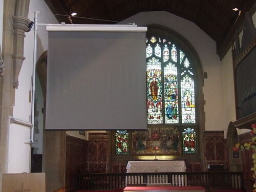3M Wide Fold Away Screen Installation fo Church