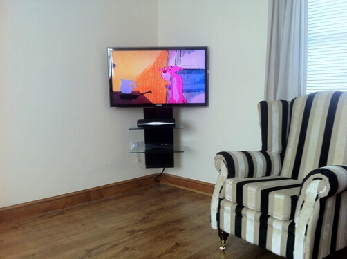 Tv wall mounting with cable management gallery av How high to mount tv on wall in living room