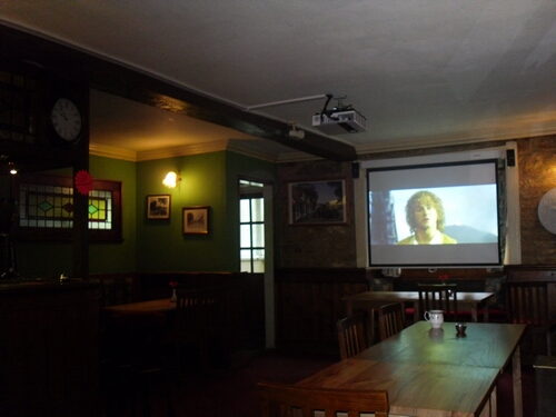 Projector and Screen Installation in Village Pub