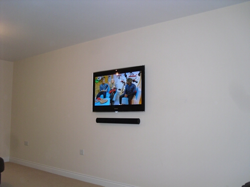 TV Wall Mounted all Cabling Concealed