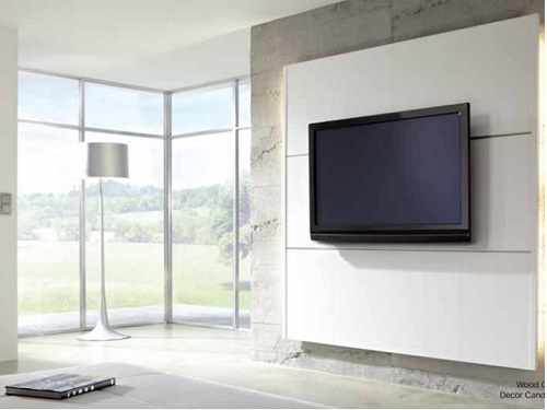 An Elegant Decorative Panel System For Wall Mounting Flat Screen TV's