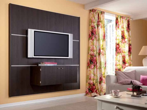 panel system for wall mounting flat screen tvs additional media shelves and media boxes for auxilary equipment - Tv Wall Panels Designs