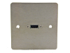 Brushed Flat Steel Single HDMI Face Plate