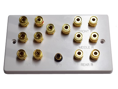 Double Gang 7.1 Speaker Wall Plate