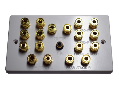 Double Gang Dolby Atmos 5.1.4 Speaker Wall Plate