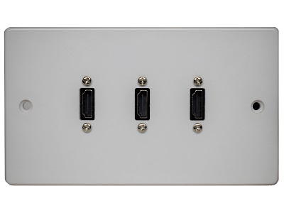 Double Gang Triple HDMI Wall plate