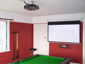 Ceiling Mounted Projector and Cable Management