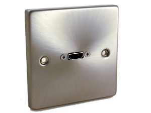 Satin Steel Single HDMI Face Plate