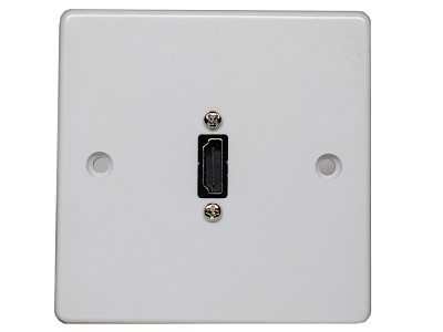 Single Gang HDMI Wallplate