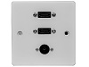 Single Gang Dual HDMI With Optical Wall Plate