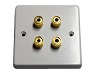 Single Gang Twin Speaker Wall Plate