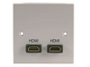 Single Gang Double HDMI Wall Plate